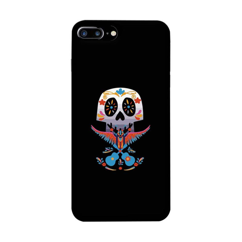 Apple iPhone 7 Plus Mobile Cover Printed Designer Case Skull Guitar