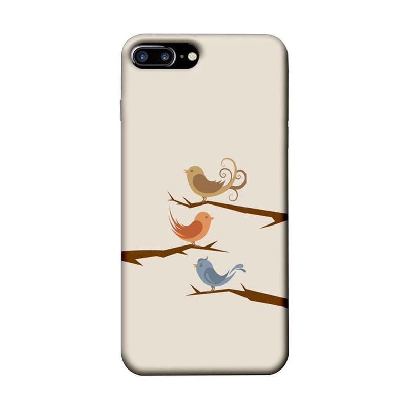 Apple iPhone 7 Plus Mobile Cover Printed Designer Case Three Birds