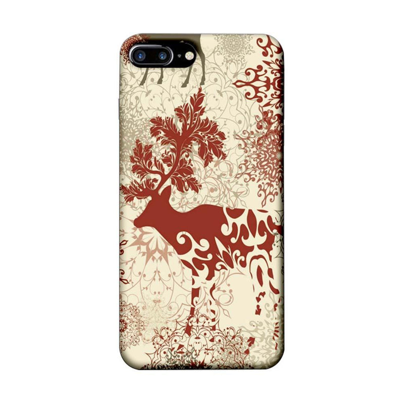 Apple iPhone 7 Plus Mobile Cover Printed Designer Case Indian Art Dear