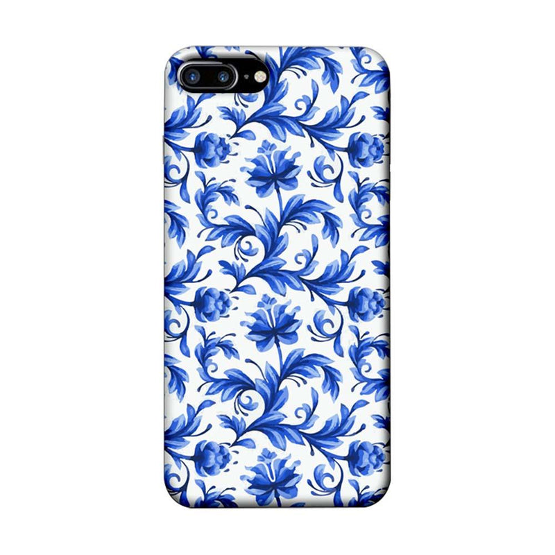 Apple iPhone 7 Plus Mobile Cover Printed Designer Case Blue Floral 2
