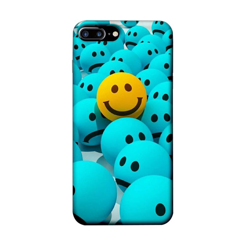Apple iPhone 7 Plus Mobile Cover Printed Designer Case Sky Blue Emoji