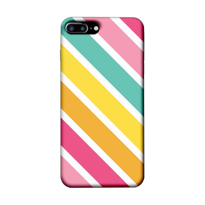 Apple iPhone 7 Plus Mobile Cover Printed Designer Case Stripes Pattern One