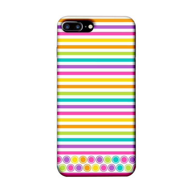 Apple iPhone 7 Plus Mobile Cover Printed Designer Case Stripes Pattern Three