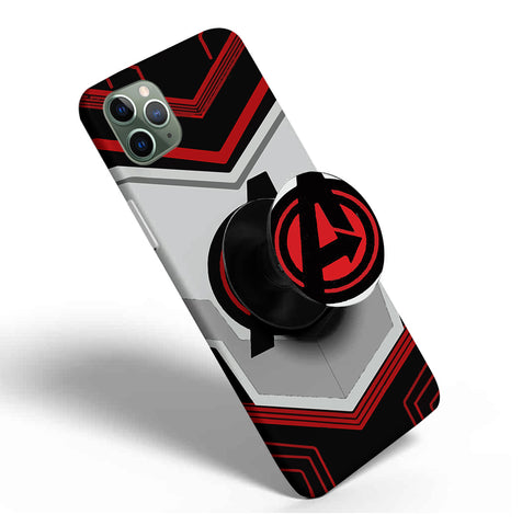 Crazywears Printed Phonecase with Black Popsocket - Avenger Logo- 27