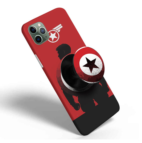 Crazywears Printed Phonecase with Black Popsocket - Captain America - 30