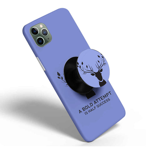 Crazywears Printed Phonecase with Black Popsocket - 41