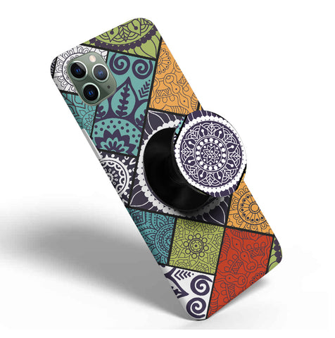 Crazywears Printed Phonecase with Black Popsocket - 55