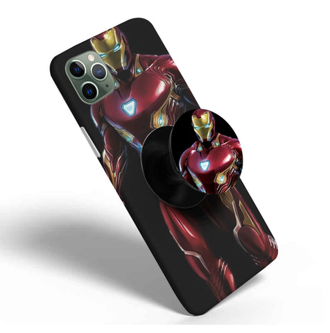 Crazywears Printed Phonecase with Black Popsocket - Ironman - 59