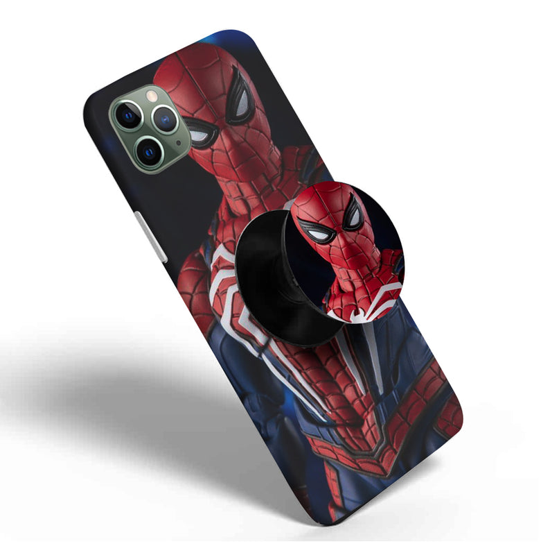 Crazywears Printed Phonecase with Black Popsocket - Spiderman - 61