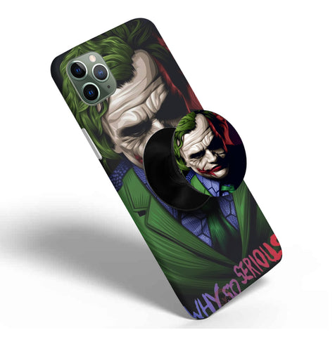 Crazywears Printed Phonecase with Black Popsocket - Joker - 63