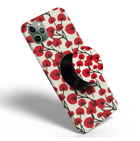 Crazywears Printed Phonecase with Black Popsocket - Floral - 65