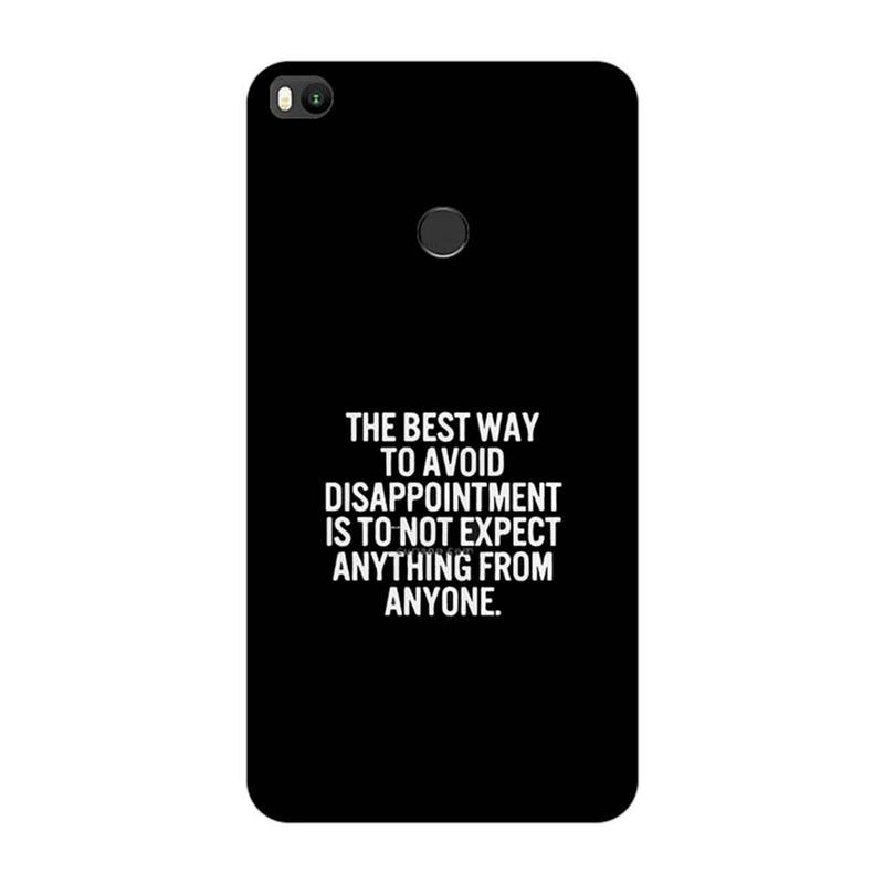 Xiaomi Mi Max 2 Mobile Cover Quotes Printed Designer Case The Best Way