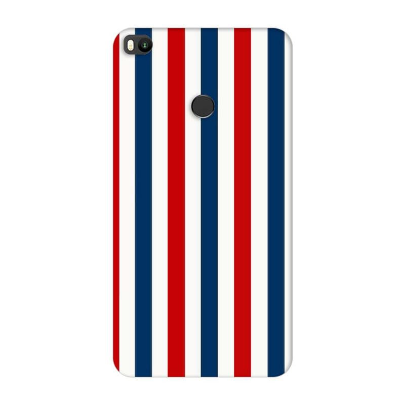 Xiaomi Mi Max 2 Mobile Cover Printed Designer Case Blue and Red Stripes