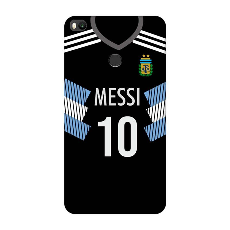 Xiaomi Mi Max 2 Mobile Cover Printed Designer Case Black Messi Jersey ( Football)