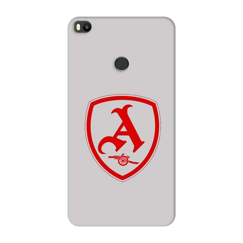 Xiaomi Mi Max 2 Mobile Cover Printed Designer Case Arsenal Logo Two ( Football)