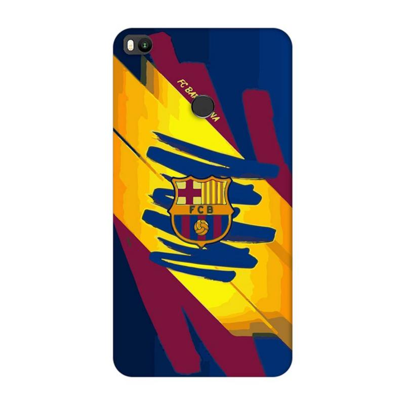 Xiaomi Mi Max 2 Mobile Cover Printed Designer Case Barcelena Logo ( Football)