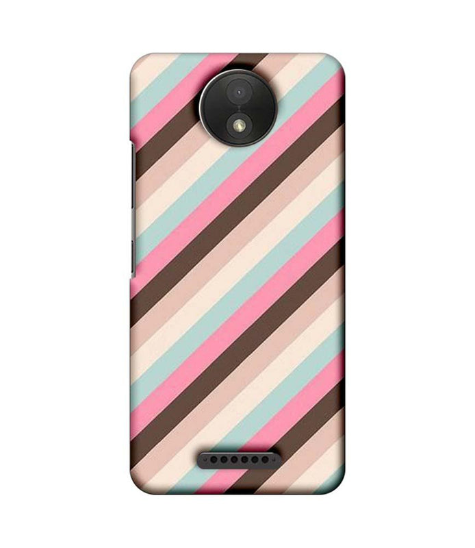 Motorola Moto C Plus Mobile Cover Printed Designer Case Multi Stripe