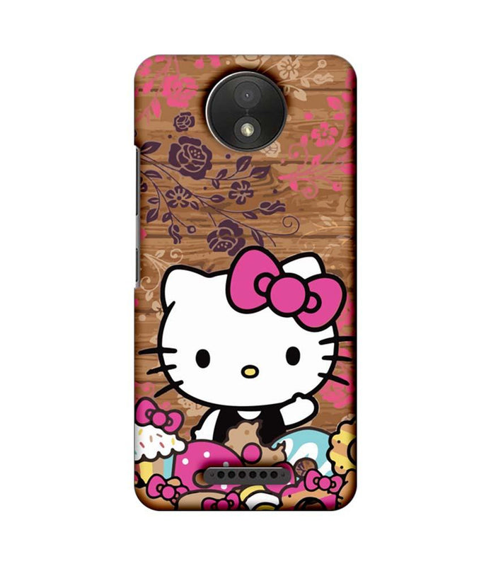 Motorola Moto C Plus Mobile Cover Printed Designer Case Hello Kitty 3.0
