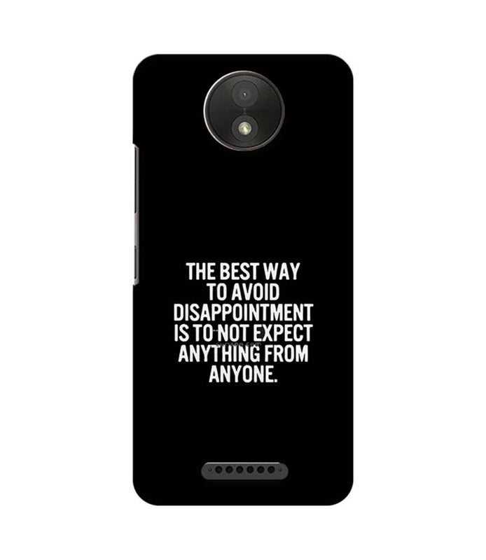 Motorola Moto C Plus Mobile Cover Printed Designer Case The Best Way