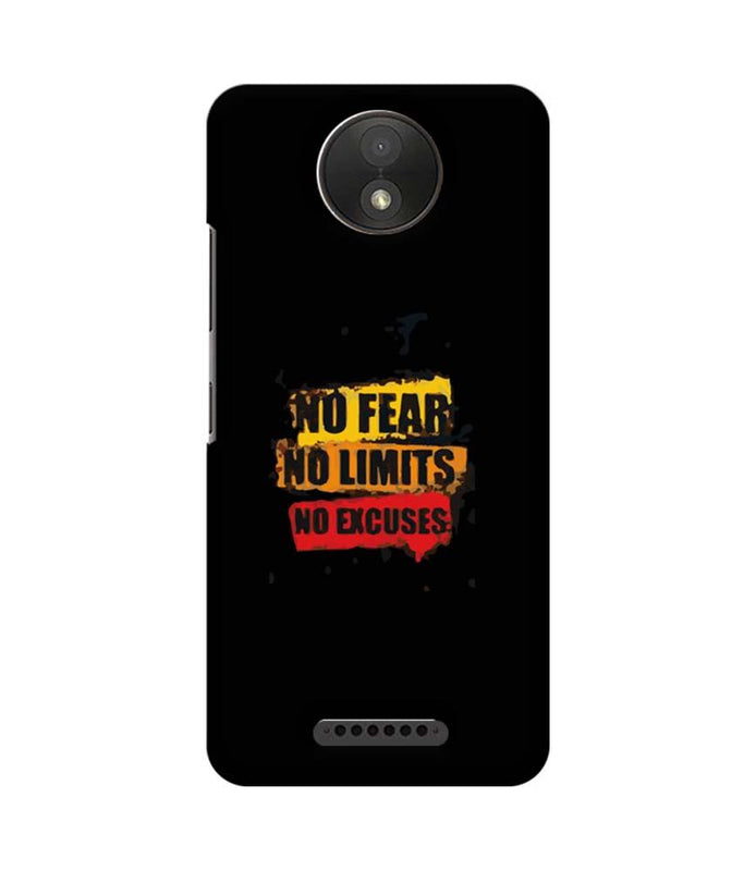 Motorola Moto C Plus Mobile Cover Printed Designer Case No Fear No Limits