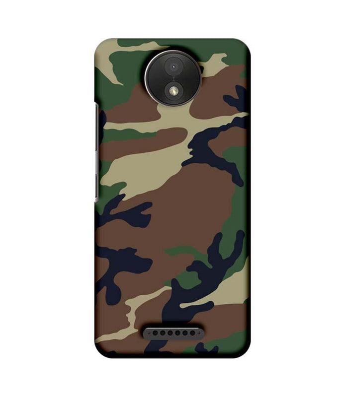 Motorola Moto C Plus Mobile Cover Printed Designer Case Military Pattern One