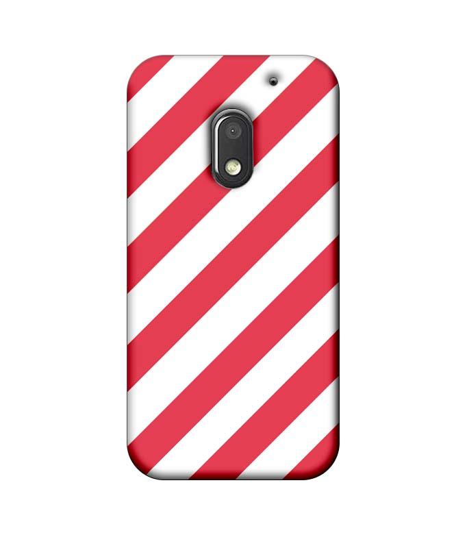 Motorola Moto E3 Power Mobile Cover Printed Designer Case Pink and White Stripes