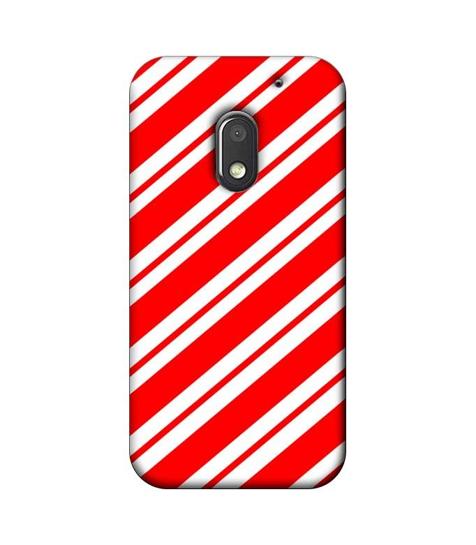 Motorola Moto E3 Power Mobile Cover Printed Designer Case Red and White Stripes