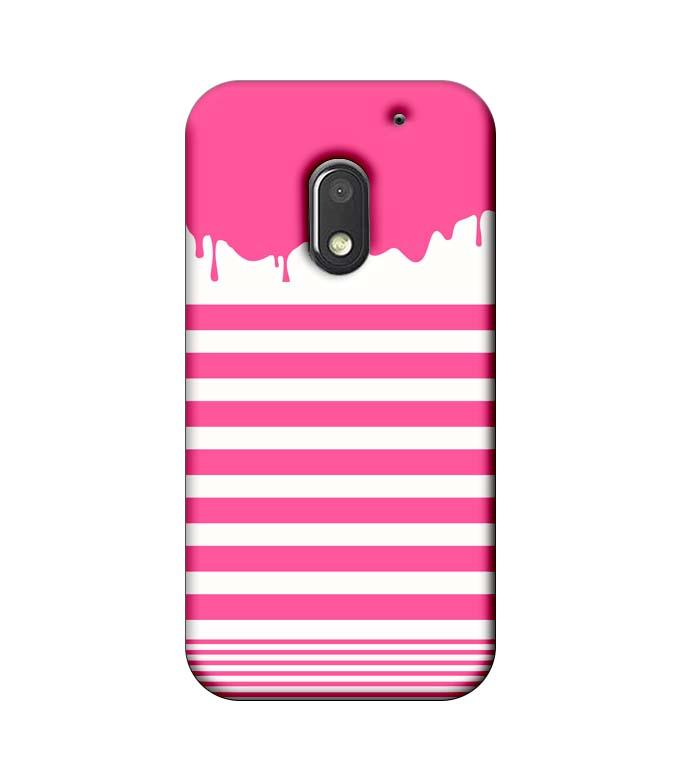 Motorola Moto E3 Power Mobile Cover Printed Designer Case Pink Stripes Brush Stroke