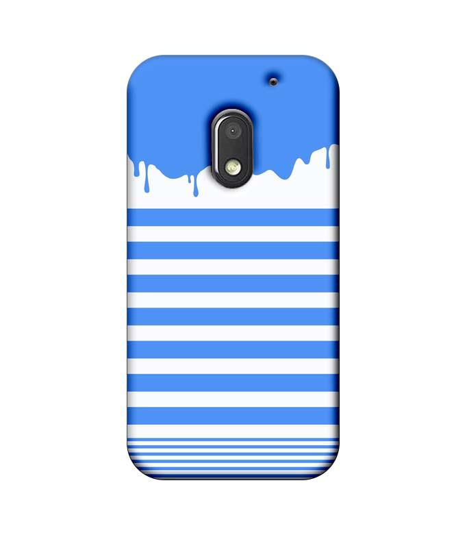 Motorola Moto E3 Power Mobile Cover Printed Designer Case Blue Brush Stroke