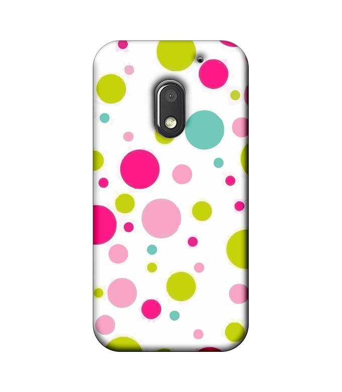 Motorola Moto E3 Power Mobile Cover Printed Designer Case Multi Colour Polka Dots