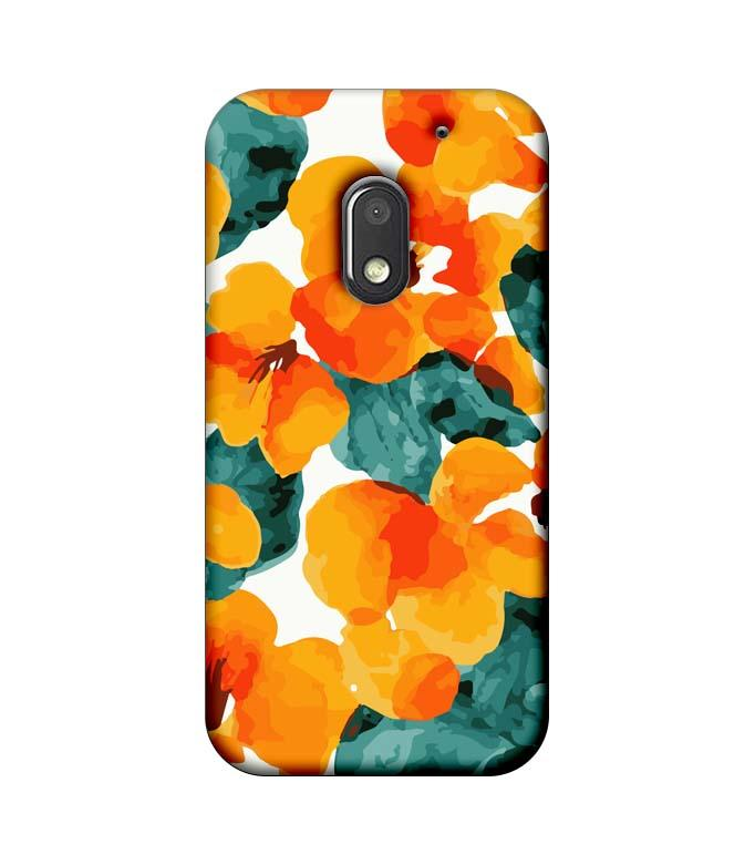 Motorola Moto E3 Power Mobile Cover Printed Designer Case Yellow Flower Artwork