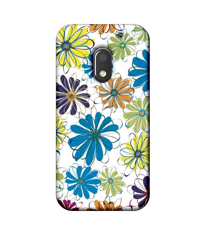 Motorola Moto E3 Power Mobile Cover Printed Designer Case Floral Pattern three