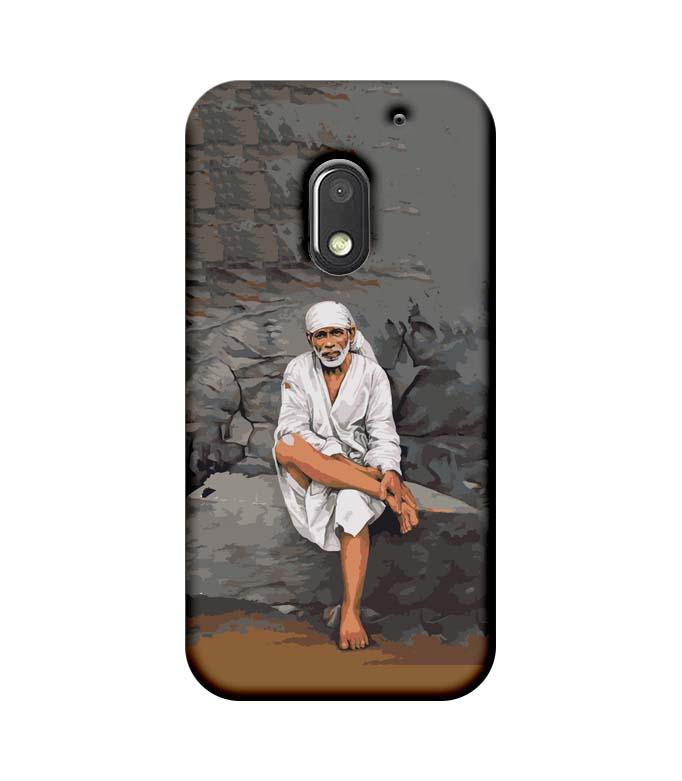 Motorola Moto E3 Power Mobile Cover Printed Designer Case Lord Sai Baba