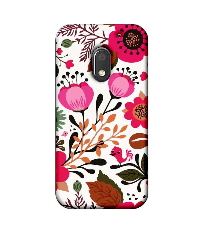Motorola Moto E3 Power Mobile Cover Printed Designer Case Flower Art