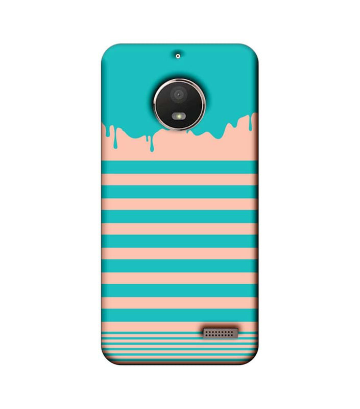 Motorola Moto E4 Mobile Cover Printed Designer Case Stripes and Brush Stroke