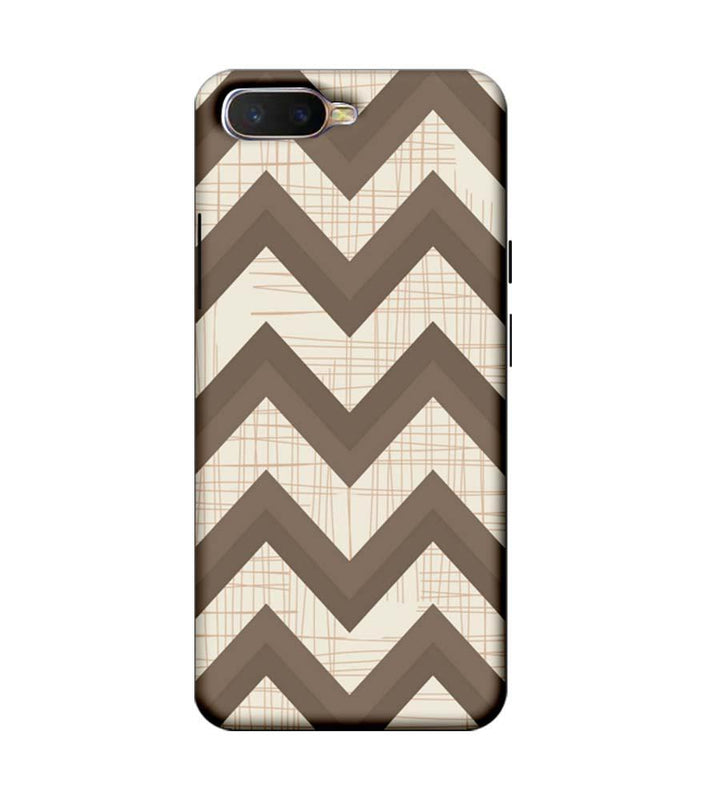 Oppo K1 Mobile Cover Printed Designer Case Elephant colour Zigzag