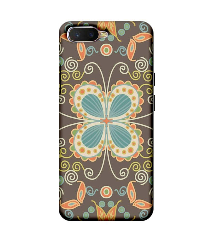 Oppo K1 Mobile Cover Printed Designer Case Butter Fly illustrator
