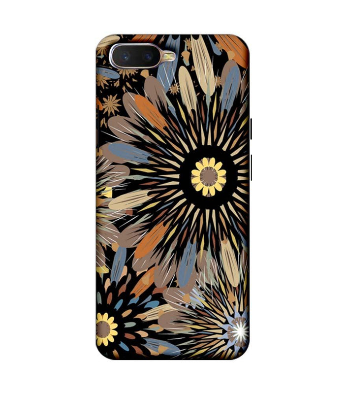 Oppo K1 Mobile Cover Printed Designer Case Floral Art 2.0