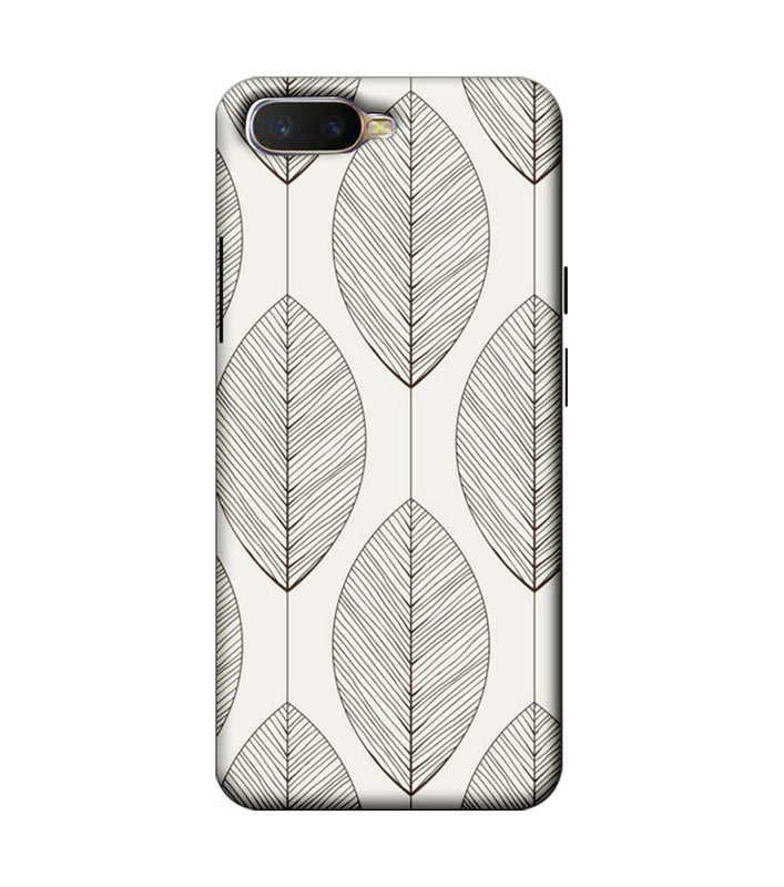 Oppo K1 Mobile Cover Printed Designer Case Leaves illustrator
