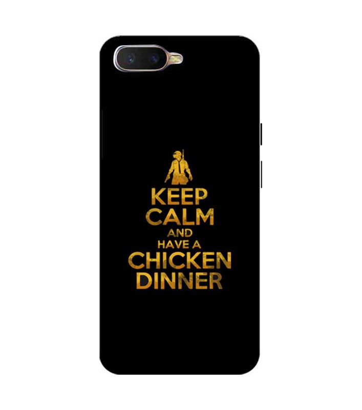 Oppo K1 Mobile Cover Printed Designer Case PUBG Keep Calm
