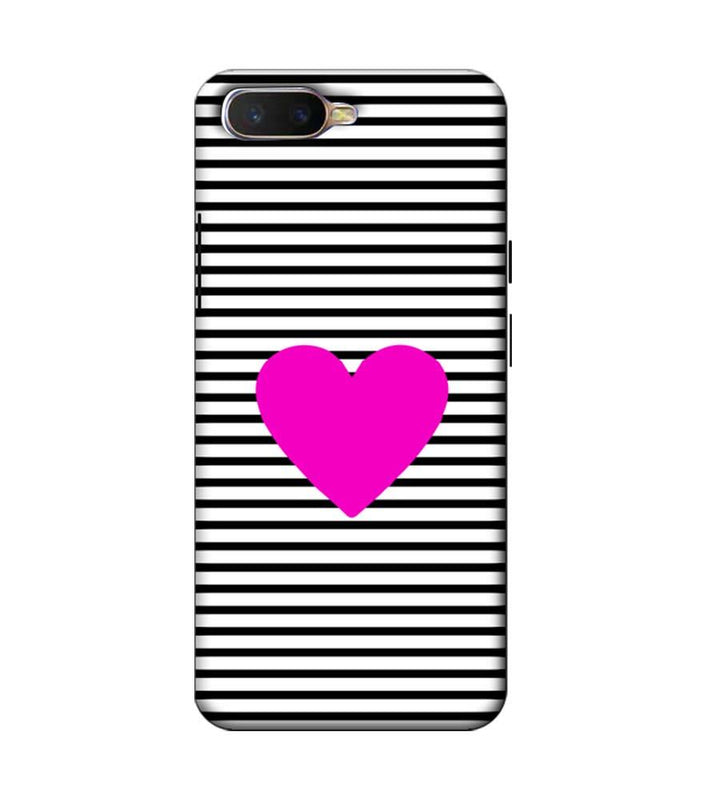 Oppo K1 Mobile Cover Printed Designer Case Purple Heart