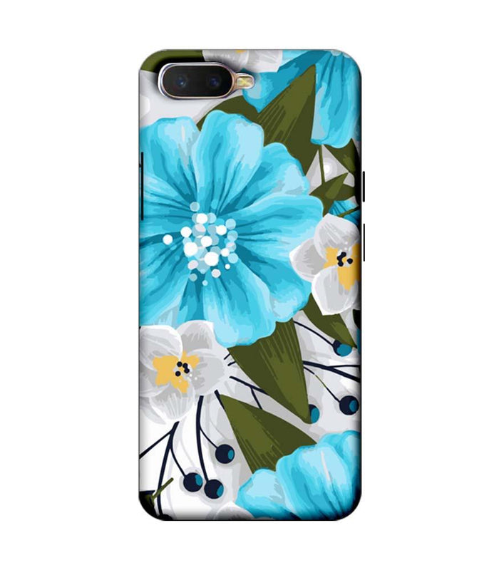 Oppo K1 Mobile Cover Printed Designer Case Blue Floral