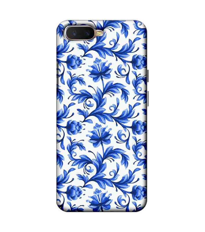 Oppo K1 Mobile Cover Printed Designer Case Blue Floral 2