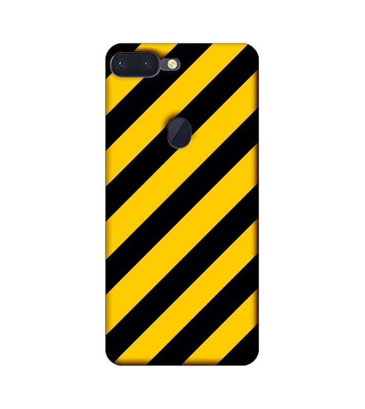 Oppo R15 Pro Mobile Cover Printed Designer Case Yellow and Black Stripes