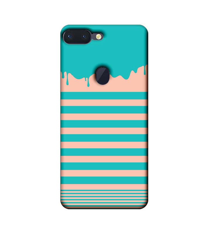 Oppo R15 Pro Mobile Cover Printed Designer Case Stripes and Brush Stroke