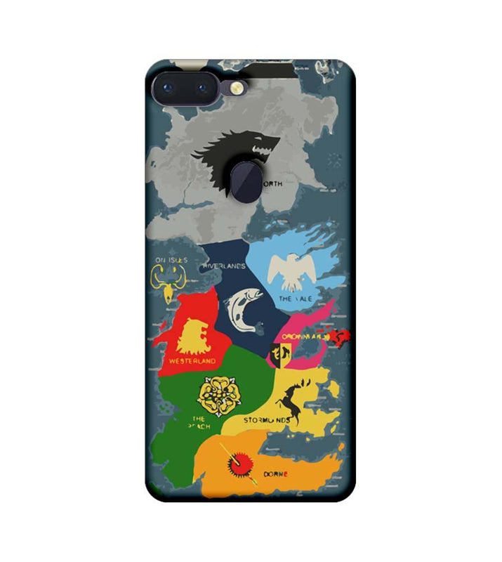 Oppo R15 Pro Mobile Cover Printed Designer Case Game of Throne Map