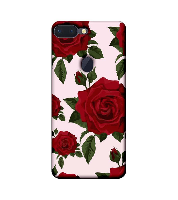 Oppo R15 Pro Mobile Cover Printed Designer Case Red Rose