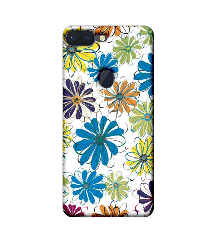 Oppo R15 Pro Mobile Cover Printed Designer Case Floral Pattern three