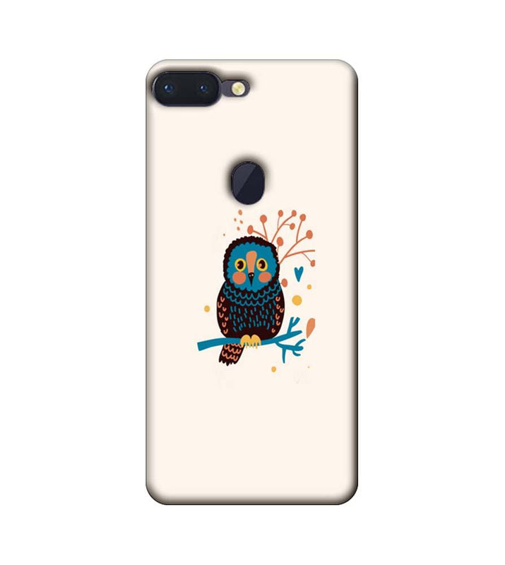 Oppo R15 Pro Mobile Cover Printed Designer Case colourful owl