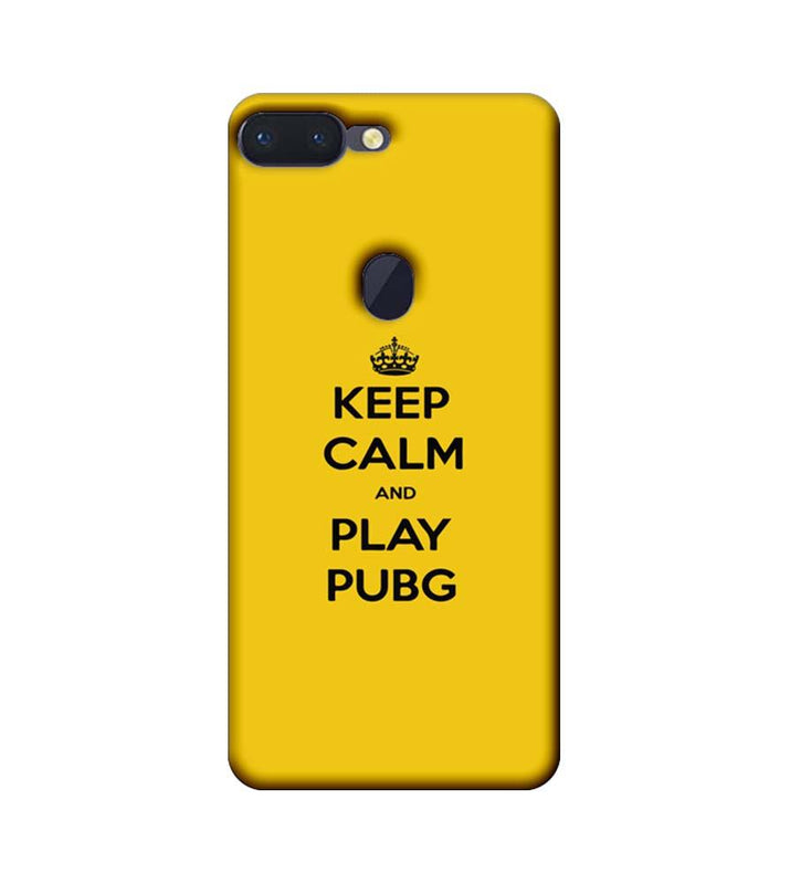 Oppo R15 Pro Mobile Cover Printed Designer Case Keep Calm and Play PUBG